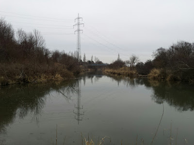 Ausblick auf die Zwischenstromlandschaft des Marchfeldkanals