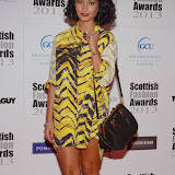 WWW.ENTSIMAGES.COM -  Yasmin    at    Scottish Fashion Awards  at 8 Northumberland London October 9th 2013                                                 Photo Mobis Photos/OIC 0203 174 1069