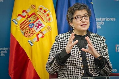 González Laya asegura que España está dispuesta a escuchar a Marruecos sobre el Sáhara Occidental pero en el marco de Naciones Unidas..