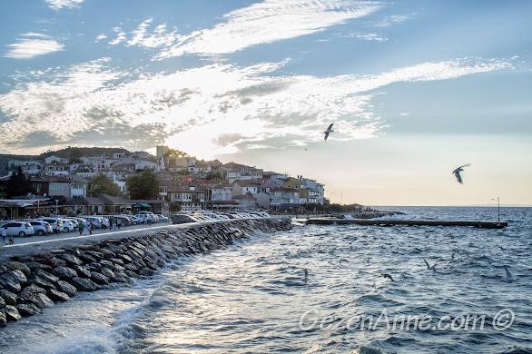 Bursa, Trilye, gün batımında