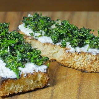 Baby Broccoli Bruschetta