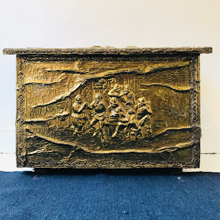 French Repousse Brass Chest