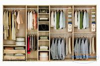 Các kiểu chia ngăn để quần áo bên trong tủ áo tủ âm tường