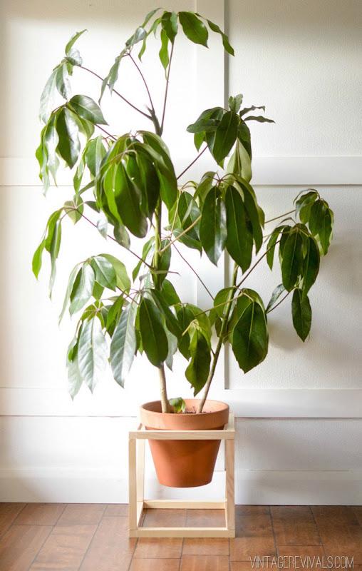 Base para plantas hecha a mano.