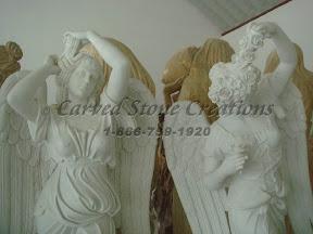 Angel, Female, Figure, Interior, Marble, Statues
