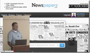 Gordon Atkinson and Newspapers.com at BYU Conference on Family History and Genealogy