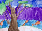 Watercolor Landscape by Julia