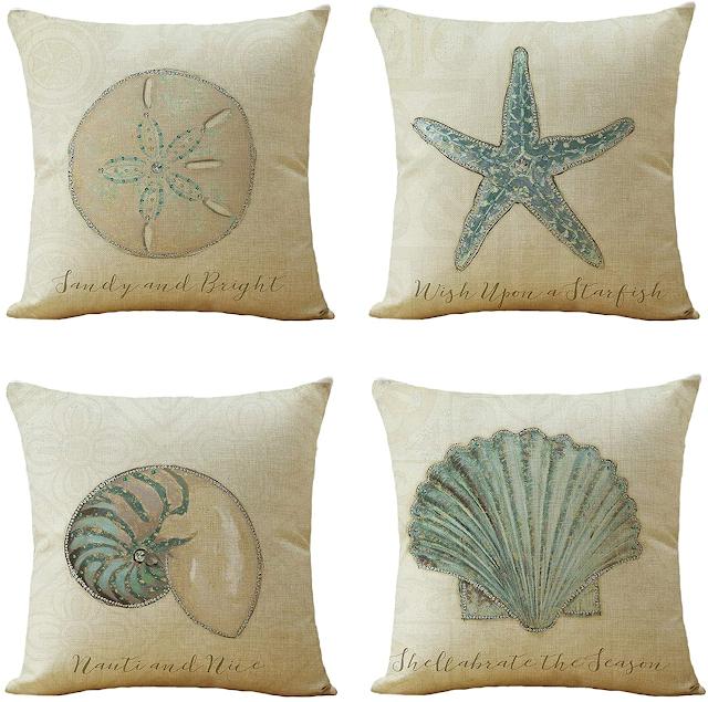 beach theme pillow covers