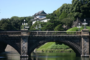 Imperial Palace above Nijubashi Bridge