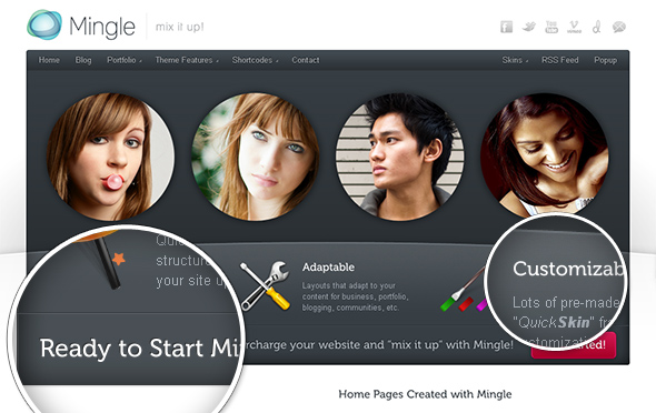 Mingle Modern WordPress Theme