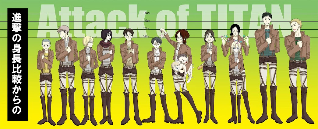 Attack on titan height chart Attack on titan Pinterest - height weight chart