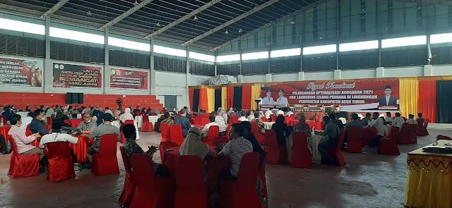 Sekda Aceh Timur Tutup Rakor Optimalisasi Anggaran 2021