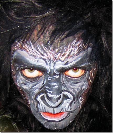 Maquillaje de gorila (9)