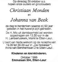 Monden, Christiaan en Beek, Johanna van Huwelijk 50 jaar.jpg