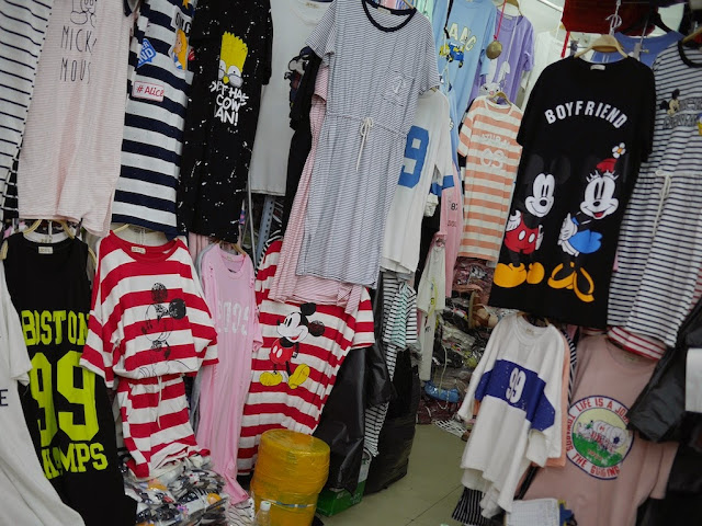 Mickey Mouse shirts for sale at Shiji Tianle in Beijing