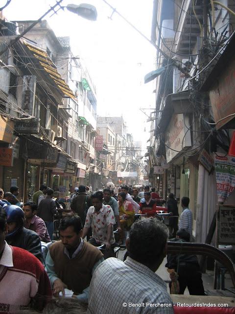 Une rue de Old Delhi