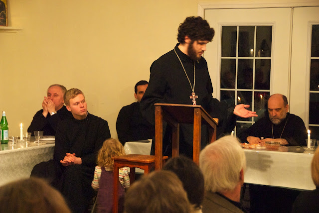Fr. Matthew thanks Bp. Michael for his guidance and assistance throughout this seminary education.