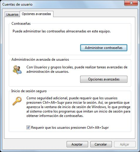 Gestionar credenciales almacenadas para acceso a recursos compartidos de red en equipos con Microsoft Windows 7