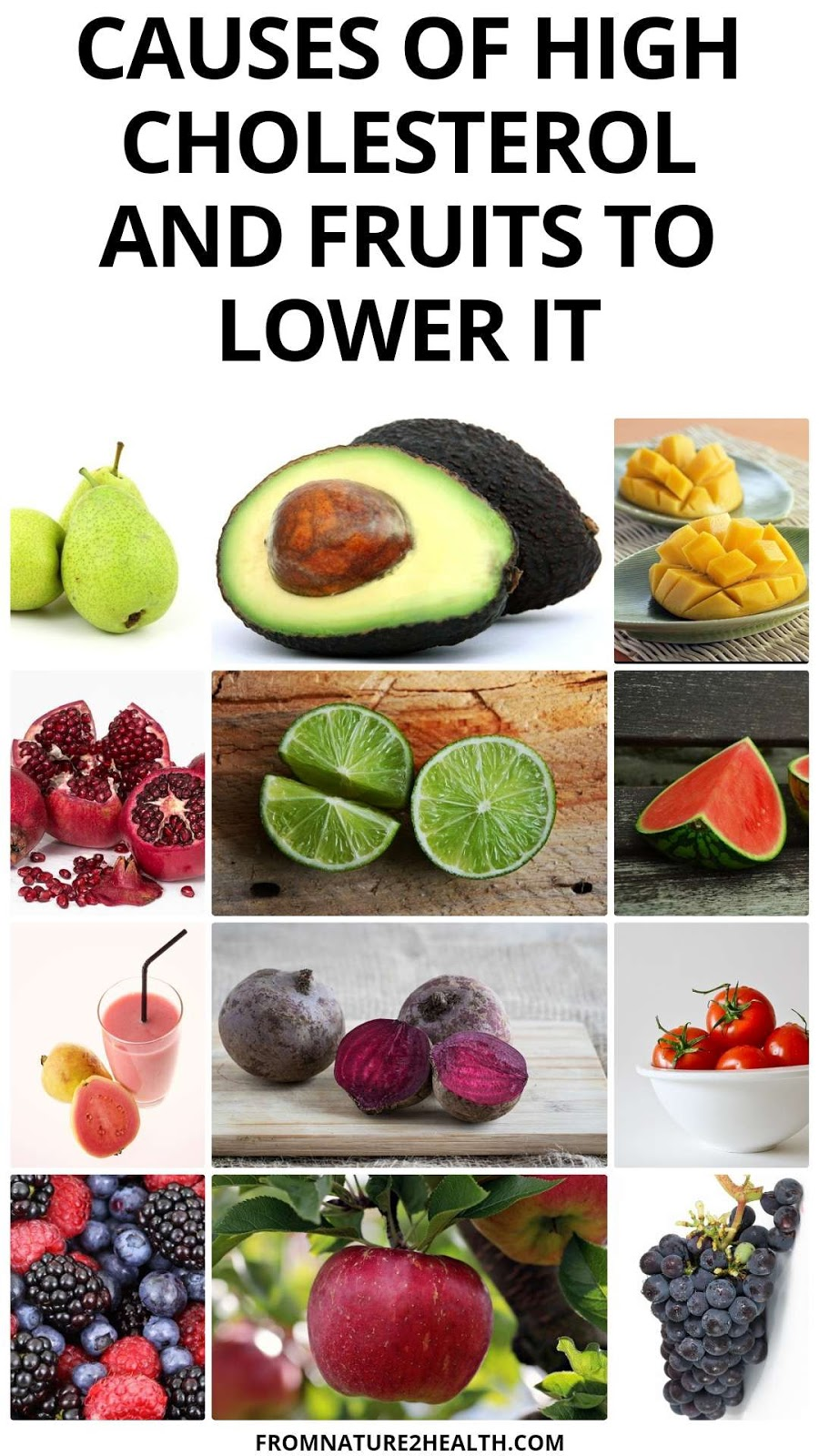 Causes of High Cholesterol and Fruits to Lower It