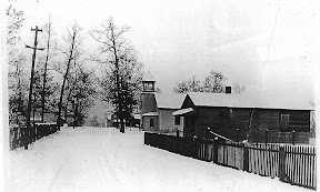 Early 1900's picture showing both our original building and the school house where congregation meet until 1886