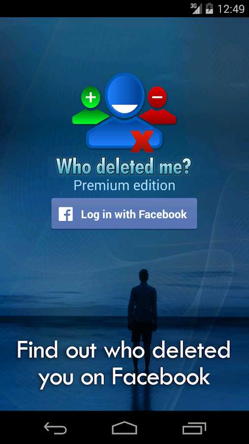 Who deleted me on Facebook?- screenshot