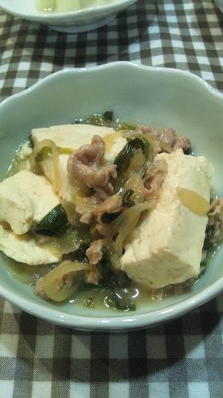 すきやき風肉豆腐