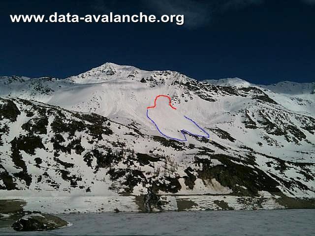 Avalanche Maurienne, secteur Pic Noir, Au dessus du lac de Bissorte - Photo 1
