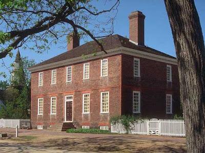 fachada de la casa de george wythe