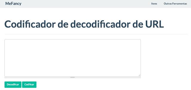 Ferramenta online codificador de decodificador de URL