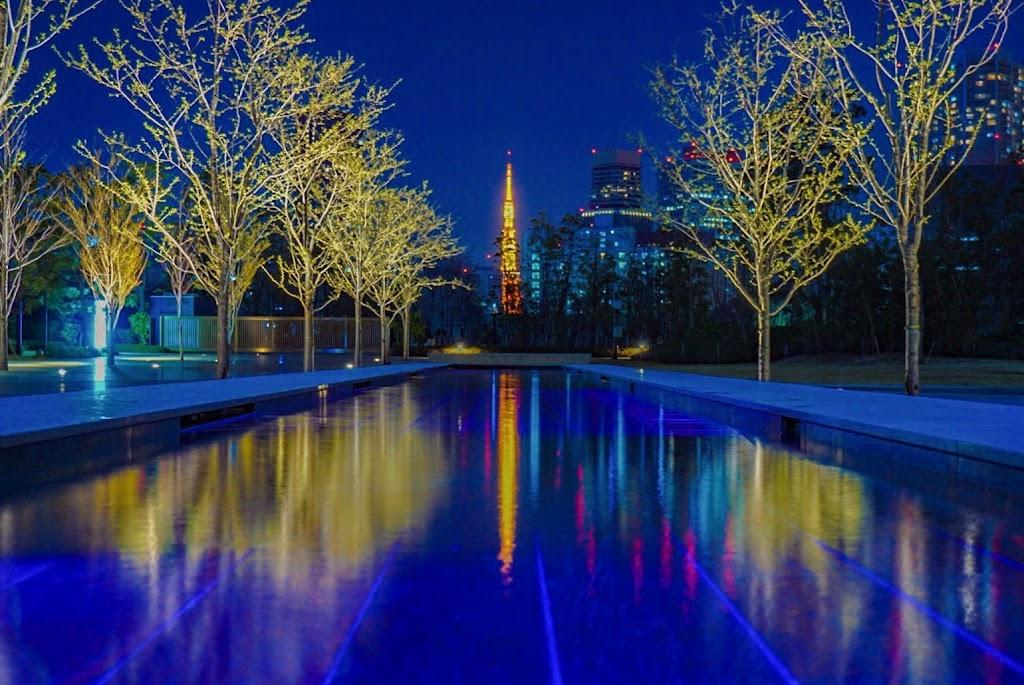 品川シーズンテラスから撮影した東京タワーの写真