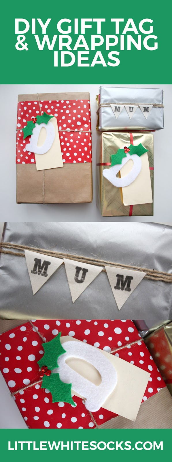 diy gift tag wrapping ideas