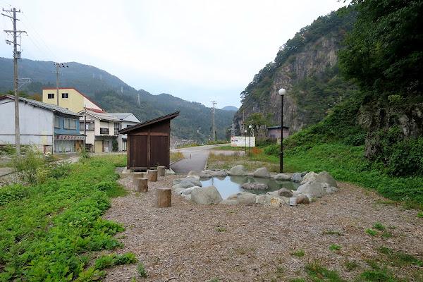 姫川温泉 足湯