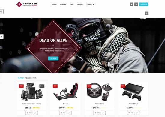 бесплатный шаблон для-Prestashop-для игровых товаров
