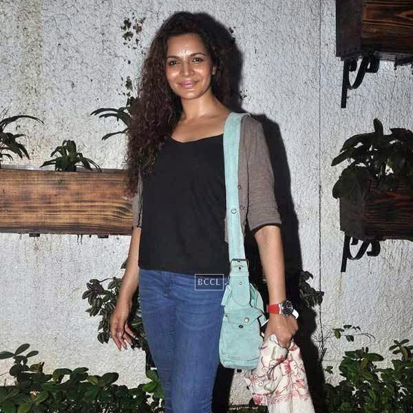 Shweta Kawatra at the premiere of Bollywood movie Hate Story 2, held at Super Sunny Sound in Mumbai, on July 17, 2014.(Pic: Viral Bhayani)