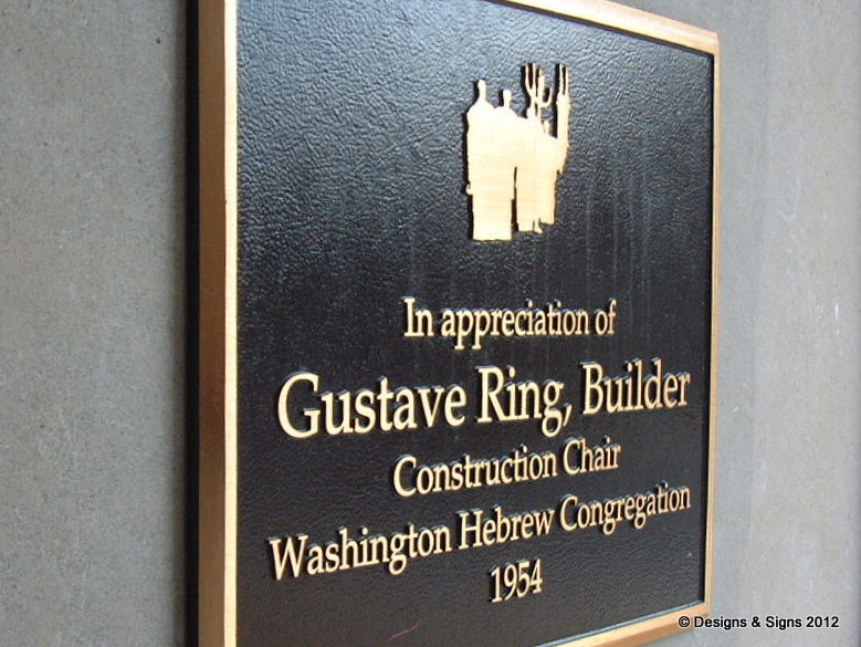 Cast Bronze Plaque – Gustave Ring