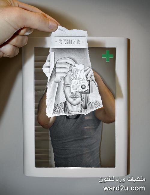 اسكتشات على فوتوغرافيا الواقع للفنان Ben Heine