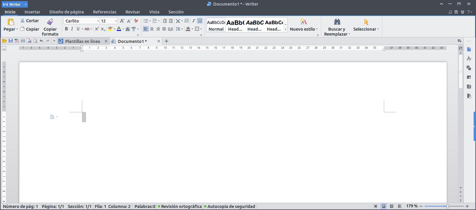 WPS con corrector ortográfico e interfase en español en Debian y ...