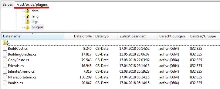 Rust Plugins - Support - General - Nitrado net Prepaid Gameserver