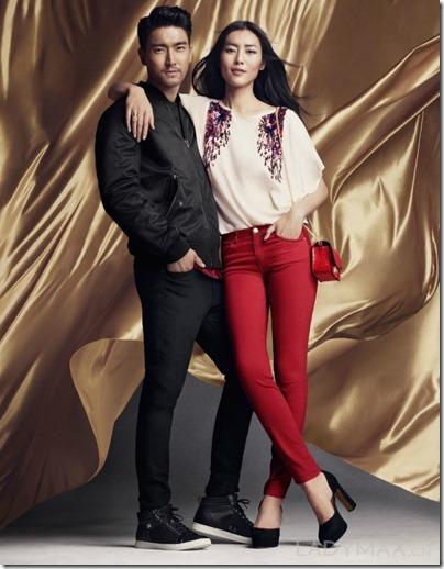 Liu Wen X Choi Siwon H&M Lunar New Year 2016