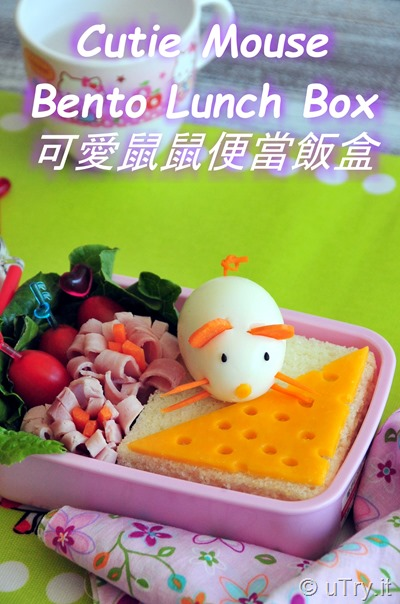 Adorable, easy, and healthy Kids Bento Lunch Box Recipe!  How to Make Cutie Mouse In The Garden Bento Lunch Box   http://uTry.it