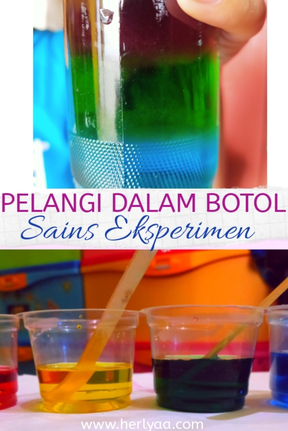 Pelangi di botol - Sains eksperimen