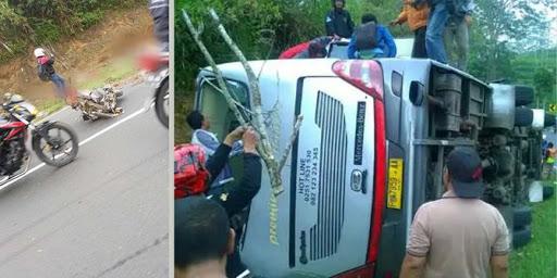 Kecelakaan maut kembali terjadi di di trurunan Emen, Kampung Cicenang, Desa Ciater, Kecamatan Ciater, Kabupaten Subang, Sabtu 10 Februari 2018 sore. Kecelakaan ini melibatkan bus pariwisata F 7959 AA yang membawa rombongan dari Ciputat.