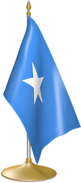 Somali table flags - desk flags