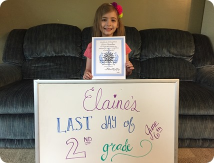 Elaine's Last Day of 2nd Grade