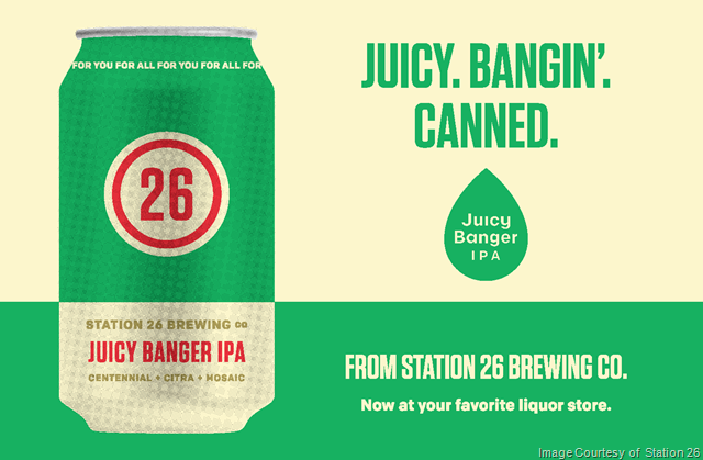 Station 26 Brewing Releases Juicy Banger IPA Cans