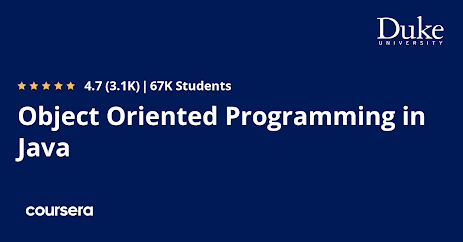 free Coursera course to learn Object Oriented Programming in Java