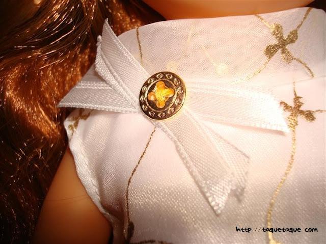 nancys de coleccion la primera nancy 1968 broche dorado y blanco del vestido