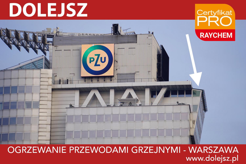 Instalacja przeciwoblodzeniowa - ogrzewanie wykuszu szklanego Warszawa