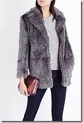 Mo&co shaggy faux fur jacket