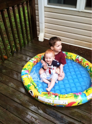 outdoor water play, Montessori homeschool